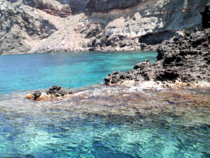 Crystal clear sea around Pantelleria island, Sicily, Italy