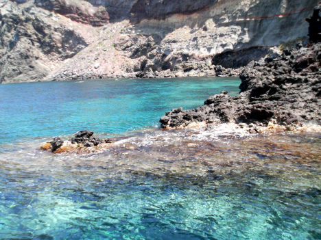 Crystal clear sea around Pantelleria, Sicily, Italy