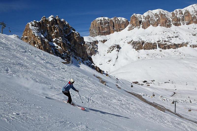 skiing arabba italy