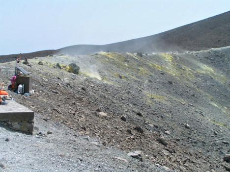 Top of Vulcano crater, Vulcano, Aeolian islands, Sicily, Italy