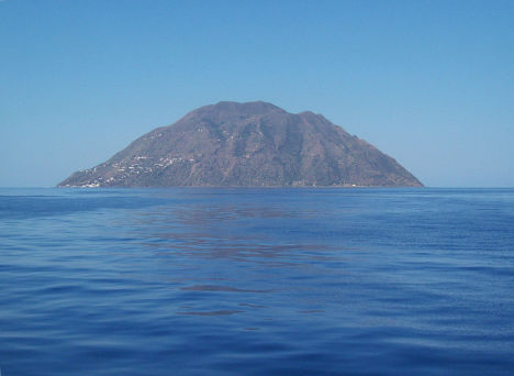 Alicudi Island - a view from the sea, Aeolian Islands, Sicily, Italy