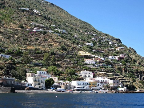 Alicudi port, Aeolian Islands, Sicily, Italy