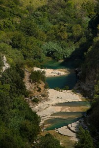 Pools in Cavagrande del Cassibile, near Noto, Sicily, Italy