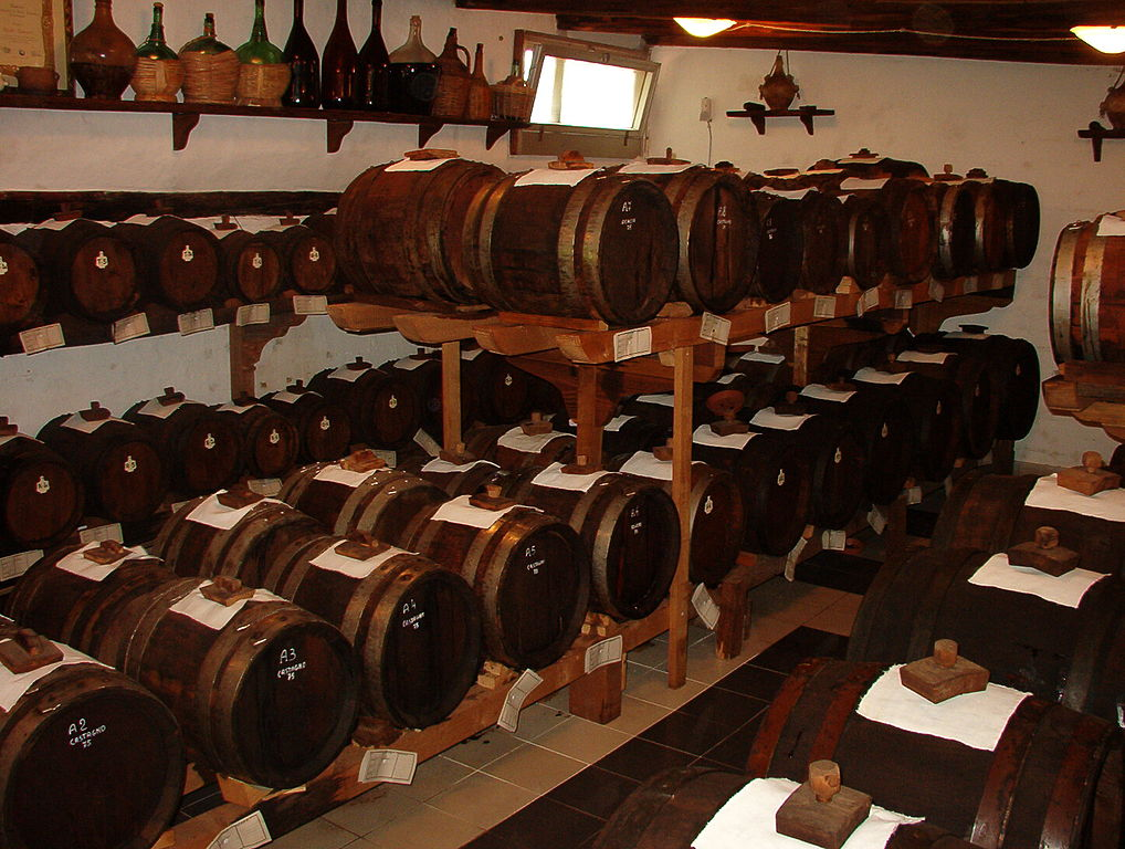 Barrels of balsamic vinegar