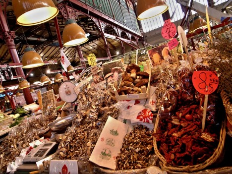 Food market - Mercato Centrale in Florence, Tuscany, Italy