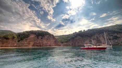 Sailing around Elba, Italy