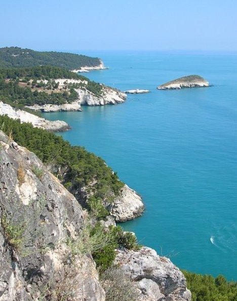 Gargano National Park coastline, Italy