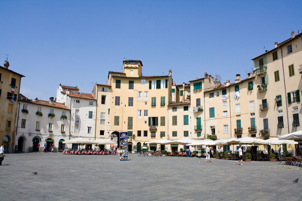 Piazza dell' Anfiteatro, Lucca, Tuscany, Italy