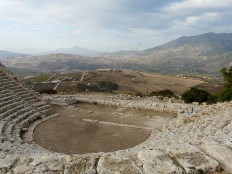 The amphitheatre at Segesta, Sicily, Italy