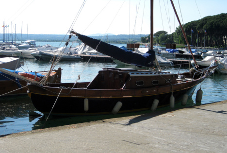 Boats at Lago di Bolsena, Lazio, Italy
