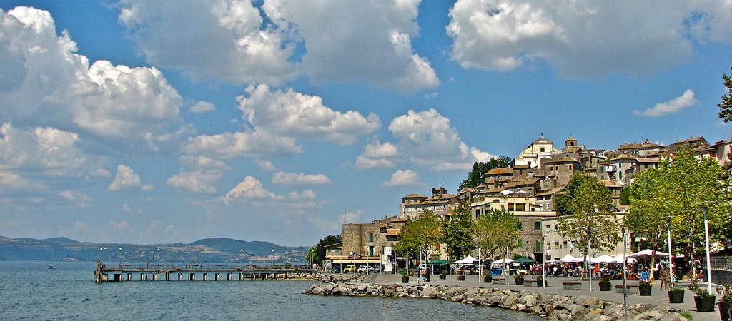Lago di Bracciano – volcanic lake reaching a depth of 165 meters