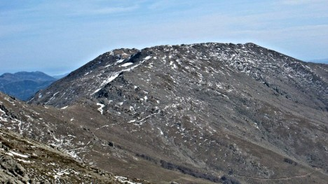The summit of Punta La Marmora, seen from Bruncu Spina, Sardinia, Italy