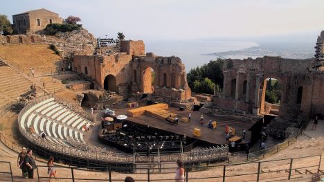 Ancient theatre of Taormina, Sicily, Italy