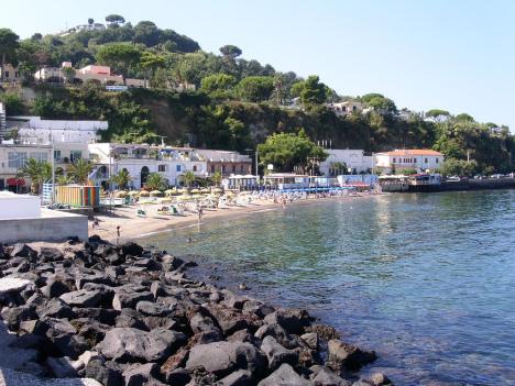 Beach in Casamicciola Terme, Ischia, Campania, Italy