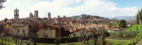 Bergamo Alta Panorama, Lombardy, Italy