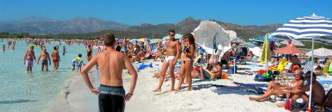 Cala Brandinchi beach, Sardinia, Italy