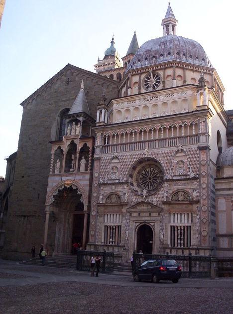 Capella Coleoni and the church of Santa Maria Maggiore, Bergamo Alta, Lombardia, Italy