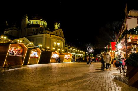 Christmas market in Merano, Trentino Alto Adige, Italy