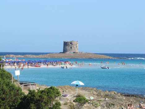 La Pelosa beach, Sardinia, Italy