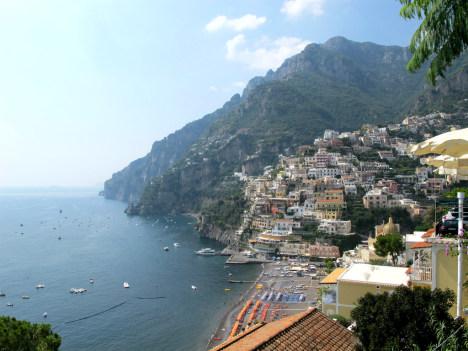 Positano and Spiaggia Grande, Campania, Italy