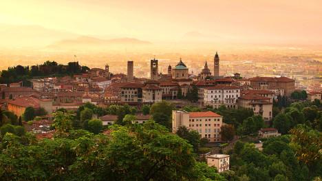 Sunrise in Bergamo, Lombardia, Italy