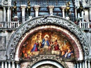 Facade Mosaics at Saint Mark's Basilica, Venice, Veneto, Italy