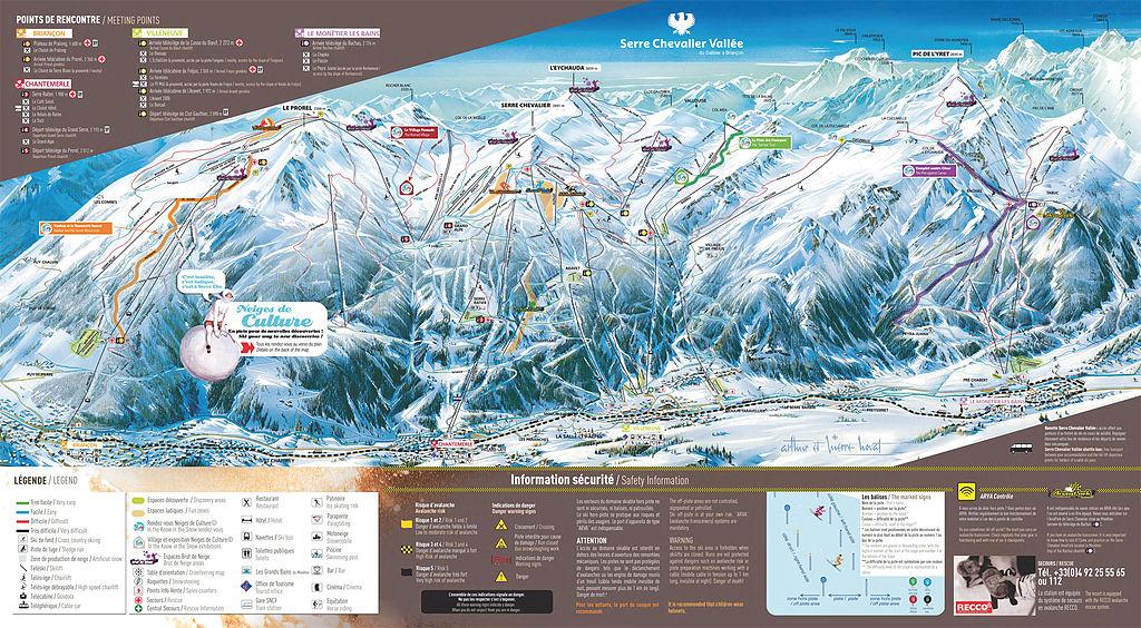 Ski runs map