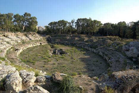 Amphitheatre in Syracuse, Sicily, Italy
