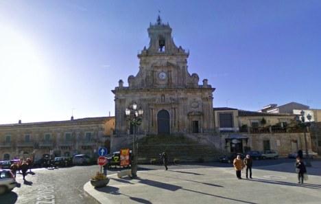 Basilica of San Sebastiano, Piazza del Popolo, Palazzolo Acreide, Sicily, Italy