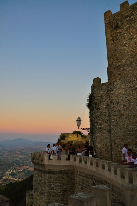 Erice castle offers great views of Trapani region, Sicily, Italy