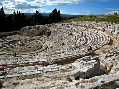 Greek theater, Syracuse Archaeological Park, Sicily, Italy