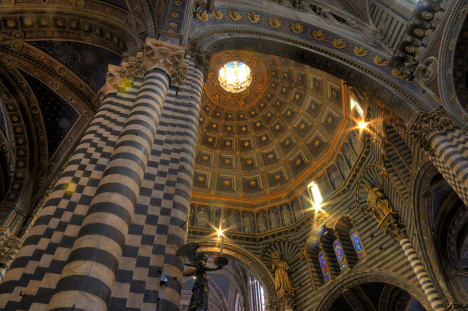 Inside of Siena Cathedral, Tuscany, Italy