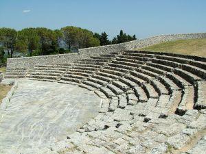 Greek theatre in Palazzolo Acreide, Sicily, Italy
