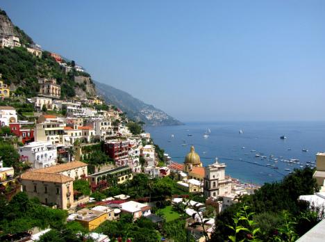 Positano with the church of Santa Maria Assunta, Campania, Italy