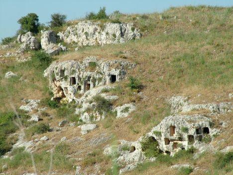 Rocky Necropolis of Pantalica, Syracuse, Sicily, Italy