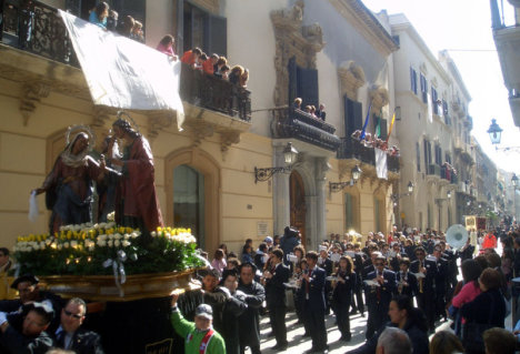 Trapani during Misteri, Easter, Sicily, Italy