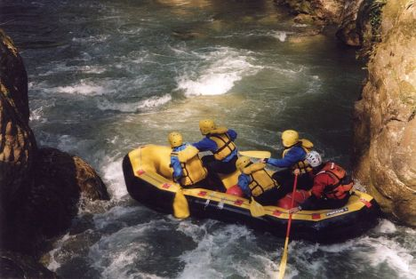 Rafting on the Nera river, Umbria, Italy