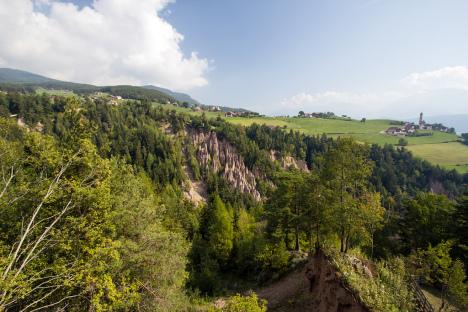 Landscape around Ritten Earth Pillars, Italy