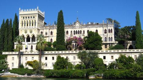Venetian neogothic Villa Borghese Cavazza, Isola del Garda, Italy