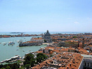 Venice as seen from the top of St. Mark's Campanile, Veneto, Italy