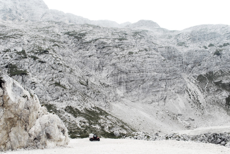 White rocks at Sella Nevea, Italy