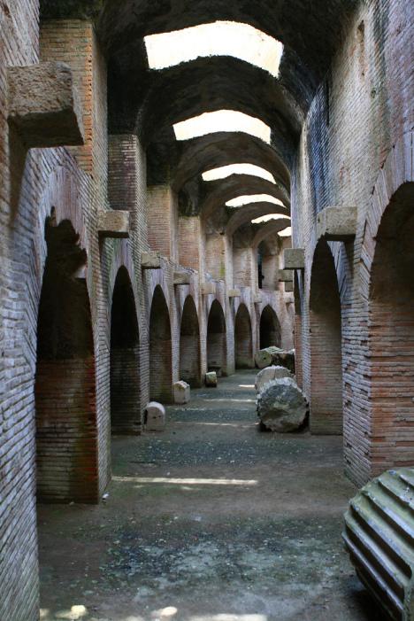 Under The Flavian Amphitheater, Pozzuoli, Campania, Italy