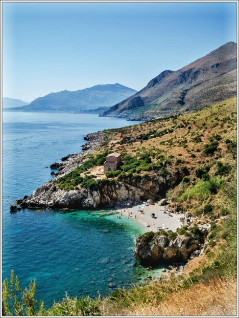 Coastline of Lo Zingaro Nature Reserve, Sicily, Italy