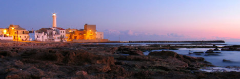 Punta Secca during sunset, Ragusa, Sicily, Italy