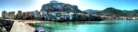 Panorama of Cefalu, Sicily, Italy