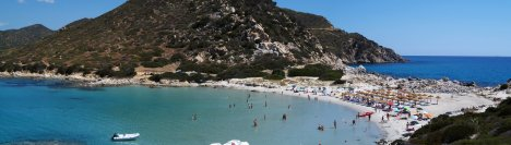 Punta Molentis beach, Sardinia, Italy