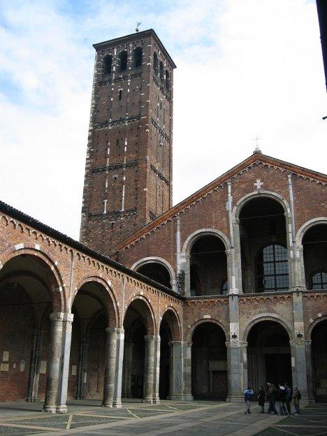 Basilica of Sant'Ambrogio, Milano, Lombardy, Italy