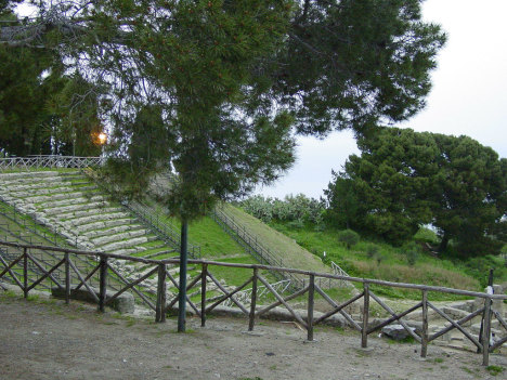 Greek theater in Tindari, Sicily, Italy