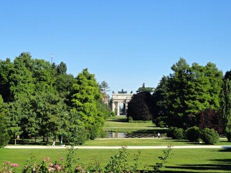 Parco Sempione with Arco della Pace, Milano, Lombardy, Italy