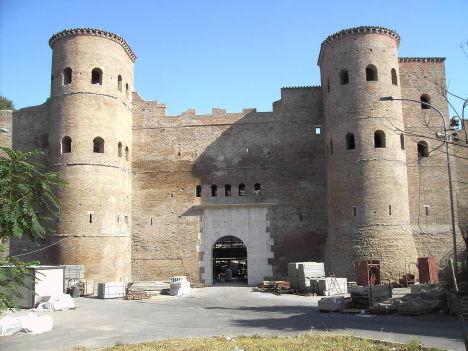 Porta Asinaria, Aurelian Walls, Rome, Lazio, Italy